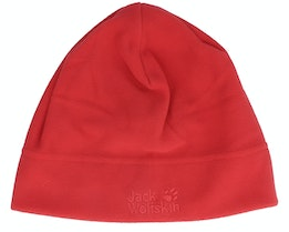 Real Stuff Cap Red Lacquer Beanie - Jack Wolfskin