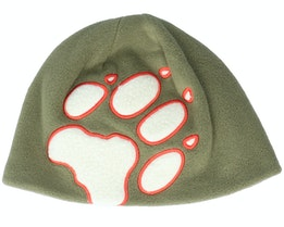 Front Paw Hat Burnt Olive Beanie - Jack Wolfskin