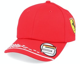 Kids Ferrari Vettel Cap Red Adjustable - Formula One