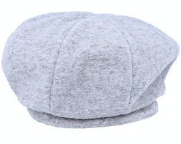 Wool Blend Heather Grey Beret - Seeberger