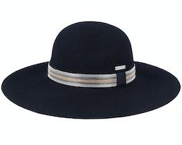 Felt Flapper Black Sun Hat - Seeberger