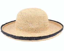 Raffia Bolero Crochet And Braid Mix Linen Straw Hat - Seeberger