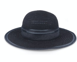 Floppy With Transparent Insert Black Sun Hat - Seeberger