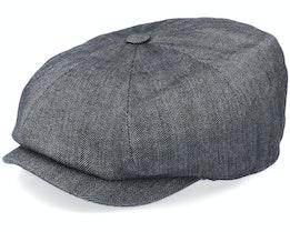 Hatteras Cotton/Linen Black Flat Cap - Stetson