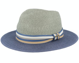 Tiller Toyo Green/Blue Straw Hat - Stetson