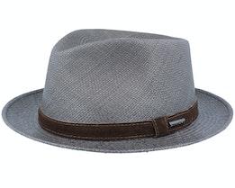 Player Panama Dark Grey Straw Hat - Stetson