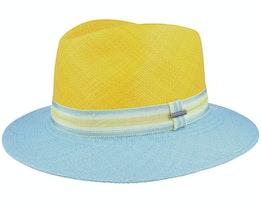 Tiller Panama 92 Yellow/Blue Fedora - Stetson