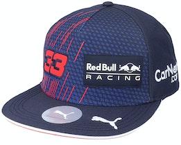 Red Bull Rbr Rp Verstappen Fb Cap Navy Snapback - Formula One