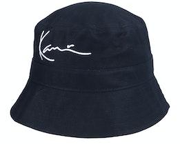 Signature Hat Black Bucket - Karl Kani