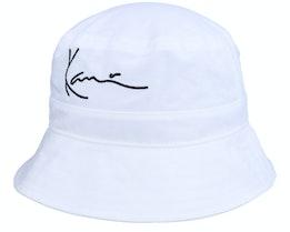 Signature Bucket Hat White Bucket - Karl Kani