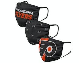 Philadelphia Flyers 3-Pack NHL Black/Orange Face Mask - Foco