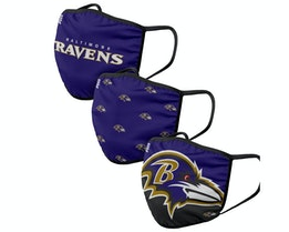 Baltimore Ravens 3-Pack NFL Purple Face Mask - Foco