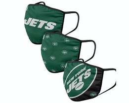 New York Jets 3-Pack NFL Green Face Mask - Foco