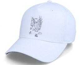 Earlham Curved Peak Eagle White Adjustable - King Apparel