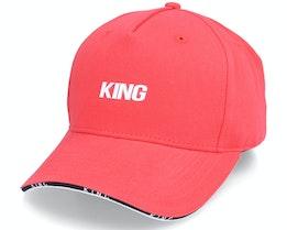 Stepney Curved Peak Pastel Red Adjustable - King Apparel