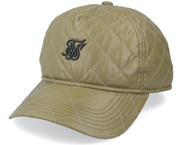 Quilted Nylon Trucker Olive Adjustable - SikSilk
