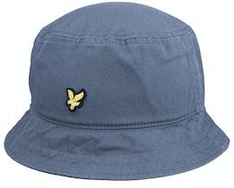 Cotton Twill Hat Slate Blue Bucket - Lyle & Scott