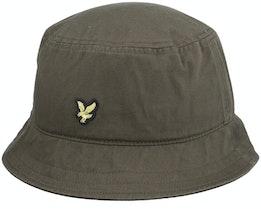 Cotton Twill Hat Olive Bucket - Lyle & Scott