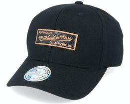 Own Brand Leather Logo Black 110 Adjustable - Mitchell & Ness