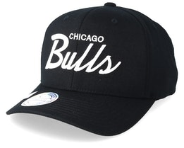 Chicago Bulls Classic Script 110 Black Adjustable - Mitchell & Ness