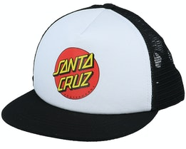 Kids Classic Dot White/Black Trucker - Santa Cruz