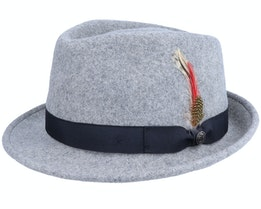 Detroit Heather Grey Trilby Hat - Jaxon & James