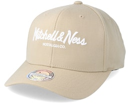 Pinscript High Crown Oyster Grey 110 Adjustable - Mitchell & Ness