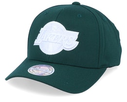 LA Lakers White Out Green/White 110 Asjustable - Mitchell & Ness