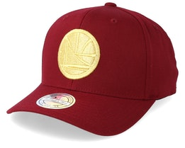 Golden State Warriors Multi 110 Maroon/Gold Adjustable - Mitchell & Ness