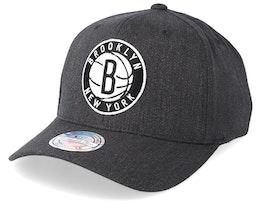 Brooklyn Nets Logo 110 Charcoal Adjustable - Mitchell & Ness