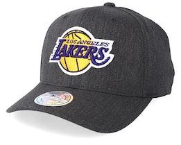 LA Lakers Logo 110 Charcoal Adjustable - Mitchell & Ness