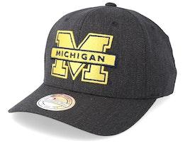 Michigan Wolverines Logo 110 Charcoal Adjustable - Mitchell & Ness