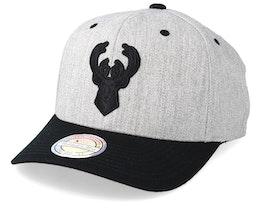 Milwaukee Bucks 110 Heather Grey/Black Adjustable - Mitchell & Ness