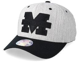 Michigan Wolverines 110 Heather Grey/Black Adjustable - Mitchell & Ness