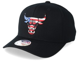 Chicago Bulls USA Logo 110 Black Adjustable - Mitchell & Ness