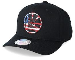 Golden State Warriors USA Logo 110 Black Adjustable - Mitchell & Ness