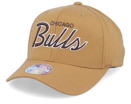 Chicago Bulls Classic Script Rust 110 Adjustable - Mitchell & Ness