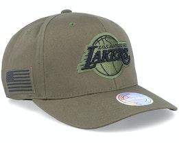 Hatstore Exclusive LA Lakers Veterans Olive - Mitchell & Ness