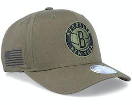 Hatstore Exclusive Brooklyn Nets Veterans Olive - Mitchell & Ness