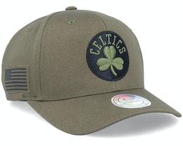 Hatstore Exclusive Boston Celtics Veterans Olive - Mitchell & Ness