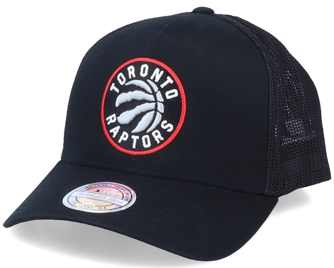 Toronto Raptors Team Logo Black 110 Trucker - Mitchell & Ness