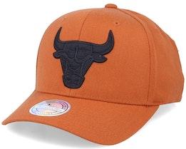 Chicago Bulls Black Logo Rust 110 Adjustable - Mitchell & Ness
