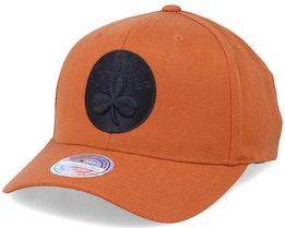 Boston Celtics Black Logo Rust 110 Adjustable - Mitchell & Ness