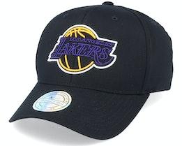 LA Lakers Neon Lights Black 110 Adjustable - Mitchell & Ness
