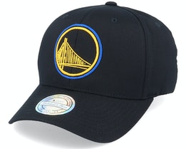Golden State Warriors Neon Lights Black 110 Adjustable - Mitchell & Ness