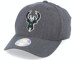 Milwaukee Bucks Heather Pop Charcoal 110 Adjustable - Mitchell & Ness
