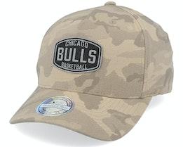 Chicago Bulls Camo Khaki 110 Adjustable - Mitchell & Ness