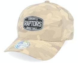 Toronto Raptors Camo Khaki 110 Adjustable - Mitchell & Ness