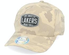 LA Lakers Camo Khaki 110 Adjustable - Mitchell & Ness