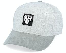 Brooklyn Nets Monotone Grey 110 Adjustable - Mitchell & Ness